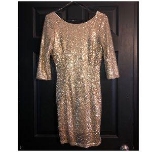 💋 BUY 1 GET 1 FREE  Gold sequin dress